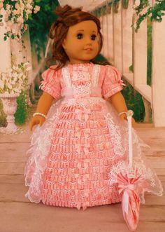 OOAK 1800's Summer Picnic Regency Gown For AG by HiddenDoorStudio via Etsy, $145.00