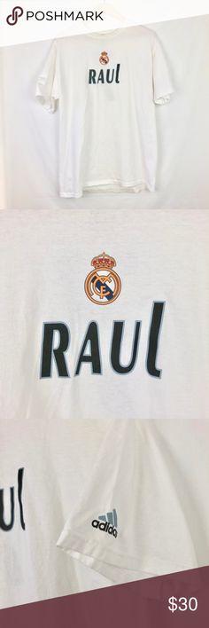 uk availability f4506 8fa49 adidas   Real Madrid Raul Gonzalez Graphic Tee - M