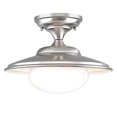 Best Bathroom Light Fixtures | Hudson Valley Lighting Independence 1Light Semi Flush  Satin Nickel Finish with Opal Glossy Glass Shade >>> Read more reviews of the product by visiting the link on the image.(It is Amazon affiliate link) #s4s