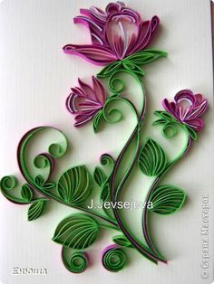Quilling flower made by Eugene
