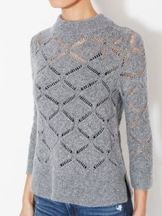 Осень кашемира Кашемир Pointelle свитер