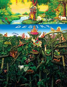 """By Ajit Krishna Dasa Bhagavad-gita As It Is, Original and authorised 1972 edition: """"The Blessed Lord said: There is a banyan tree which has its roots upward and its branches down and who… Señor Krishna, Hare Krishna, Shiva, Indian Gods, Indian Art, Bhakti Yoga, Bhagavad Gita, Gods And Goddesses, Spirituality"""