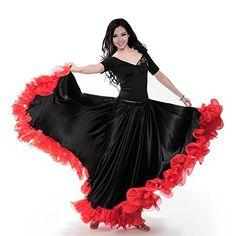 Spanish Bullfight Festival Performance Dance Flamenco Skirt Highq Flame Floral Plus Size Ballroom Women Skirt Black One Size Costume Flamenco, Flamenco Skirt, Jupe Swing, Swing Skirt, Ballroom Costumes, Dance Costumes, Propositions Mariage, Swing Rock, Dance Dresses