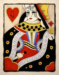 Queen Of Hearts Gothic Art Print