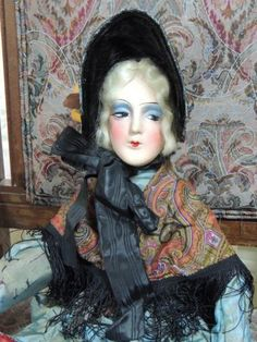 28-Antique-1920s-French-Boudoir-Doll-All-Original-Leather-Hands-Wired-Arms