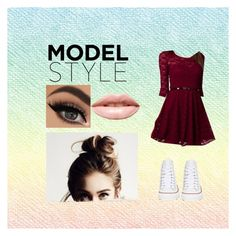 """Semi formal dance"" by mermaid-off-duty ❤ liked on Polyvore featuring LASplash and Converse"