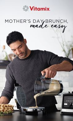Prepare a Mothers Day brunch for the books. Then gift Mom the tool that made it possible: a Vitamix blender. Vitamix Blender, Vitamix Recipes, Blender Recipes, Cooking Recipes, Healthy Recipes, Breakfast Bake, Breakfast Casserole, Breakfast Recipes, Custard Sauce