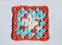 Traditional granny square pattern