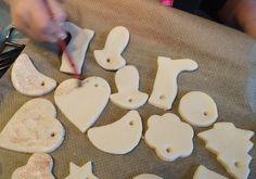 Zoutdeeg koekjes voor in de kerstboom