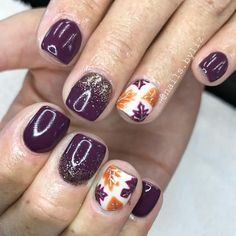 """280 Likes, 4 Comments - Liz Henson (@nails.byliz) on Instagram: """"Pretty fall leaves! inspo from Pinterest . . . . #nails #gelnails #nailstagram #acrylicnails…"""""""