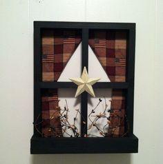Primitive Home Wall Decor Window Shelf Star | eBay