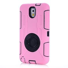 Shockproof Silicon Ring Stand Cover for Samsung Galaxy Note3 Case Mobile Phone Cases Heavy Duty Hard Armor Drop Resistance Case