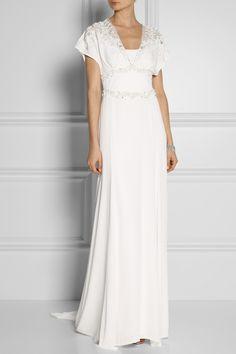 fcfe8c31672 Temperley London - Willow floral-appliquéd embellished silk gown
