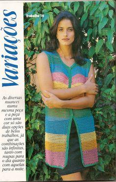 Delicadezas en crochet Gabriela: Ropa media estación paso a paso