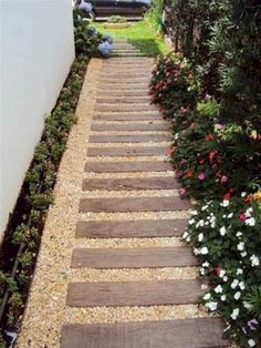 57 Excited Garden Path And Walkway Ideas Design Ideas And Remodel 57 Excited Garden Path And Walkway Ideas Design Ideas And RemodelWell planned road pages don't just make crossing the page easier but also h Back Gardens, Small Gardens, Outdoor Gardens, Side Garden, Garden Paths, Side Yard Landscaping, Garden Projects, Wells, Beautiful Gardens
