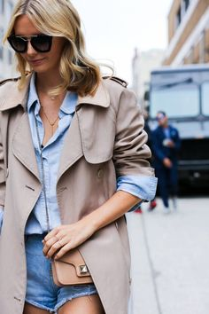 NYFW Street Style, Delicate Gold Jewelry | Spring 2015 New York Fashion Week Street Style