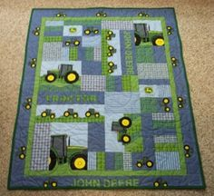 Easy Quilts For Beginners Little Boys John Deere Quilt Quilts And Coverlets Queen Size Quilts For Beginners By Felicity Walker John Deere Fabric, John Deere Baby, Baby Crib Bedding, Boy Quilts, Queen Quilt, Baby Boy Rooms, Baby Shower Themes, Shower Ideas, Sewing Projects
