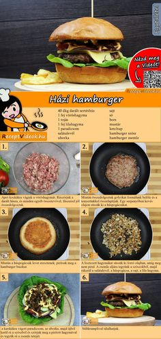 Hausgemachte Hamburger -Hamburgerrezept/ Hamburger selber machen - Do you fancy homemade hamburgers? You can easily find the homemade hamburger video using the QR cod - Pizza Recipe Without Oven, White Pizza Recipes, Hamburger Meat Recipes, Hamburger Pizza, Homemade Hamburgers, Food Tags, Pizza Hut, Whole 30 Recipes, Sauce Recipes