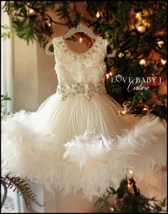 """""""Frosted Perfection""""... The PERFECT Flower Girl Gown!"""