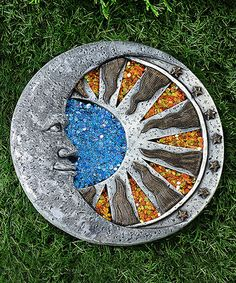 Moon Profile Cement Stepping Stone by Giftcraft #zulily #zulilyfinds