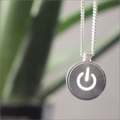 iNecklace - LED Light Necklace of Mac power button design Mobiles, Maker Culture, Power Button, Geek Chic, Washer Necklace, Jewelry Accessories, Gadgets, Geek Stuff, My Style