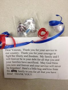 Veteran's day - Would tweak this a bit...from students or school.