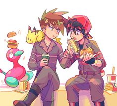 Red X Green Pokemon Rpg, Pokemon Manga, Ash Pokemon, Pokemon People, Pokemon Ships, Play Pokemon, Cute Pokemon, Pokemon Adventures Manga, Pokemon Stories