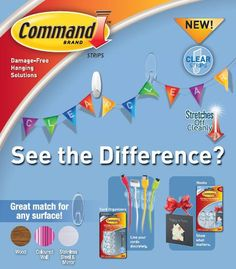 Introducing CLEAR! Command™ Clear Hooks are now available in Canada and even have a clear adhesive strip!