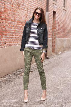 What I Wore: On Repeat, Camo, Stripes, Denim, Jessica Quirk, whatiwore.tumblr.com