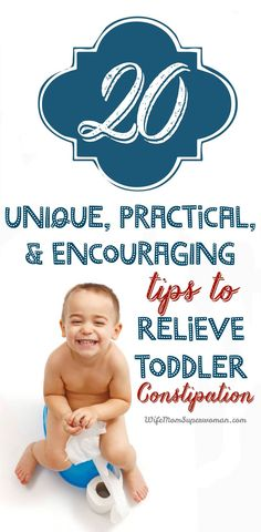 If you EVER plan to have kids, do yourself a favor & pin this!! 20 Unique, Practical & Encouraging Tips to Relieve Toddler Constipation including high fiber gummies, chia seeds, & prune pops! The most comprehensive list on this subject I've ever seen & so helpful!