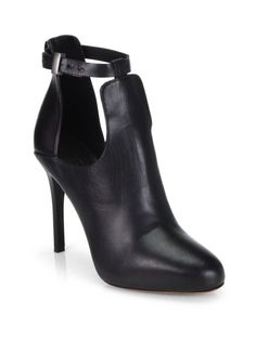 NEW VINCE Womens Black Sonia Cutout Leather Platform Ankle Boots Booties 8.5 #VinceCamuto #FashionAnkle