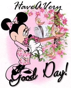 Good Morning Minnie Mouse | Glitter Text » Greetings » Good Day~Minnie Mouse