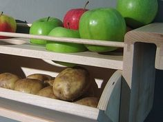 Store potatoes with apples to keep them from sprouting.