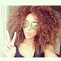 long curly kinky brown hair