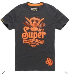 Shop Superdry Mens Spirit T-shirt in Charcoal Marl. Buy now with free delivery from the Official Superdry Store. Superdry Style, Superdry Mens, Cool Tees, Cool T Shirts, Tee Shirts, Rocker Look, Edwin Jeans, Tee Shirt Designs, Men's Wardrobe