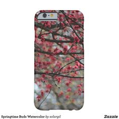 Springtime Buds Watercolor Barely There iPhone 6 Case