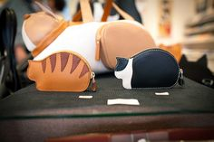 Japanese Coin Cases (猫コインケース) by Takanyo, via Flickr