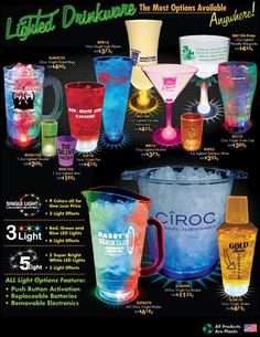 Your One Stop Source for Lighted Drinkware - Made in the USA.