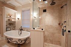 Simple and beautiful bathroom idea.