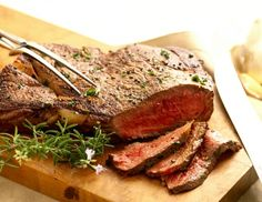 This classic recipe for London Broil is marinated fantastic wine and balsamic vinegar mixture.