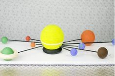 School projects showing the solar system don't have to be flat, colored posters or mobiles hanging in a straight row from a clothes hanger. A hand-made solar system can be much more interesting and eye-catching. If fact, your solar system will be bright, colorful and 3-D. Instead of hanging in a row, it will be spheres that not only surround the...