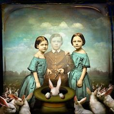 Maggie Taylor talked at my university. Surreal digital art from daguerreotypes.