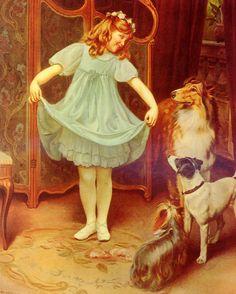 Arthur John Elsley (1861-) The New Dress