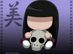 Sunako and her skull friend