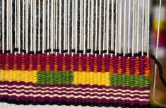 For this post I tackle two techniques in the CraftArtEdu Introduction to Tapestry Class: pick and pick and soumak knots. Pick and Pick Pick and pick is a method you'll hear about a lot. It cr… Wool Wall Hanging, Chevron Patterns, Weaving Patterns, Tapestry Weaving, Weaving Techniques, Loom Beading, Book Crafts, Knots, Hand Weaving