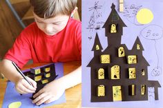 Haunted House--Get kids into the Halloween spirit by letting them create a not-too-spooky haunted house.