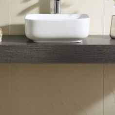 Fine Fixtures Ceramic Square Vessel Bathroom Sink