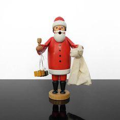Incense Smoker / Pipe man / Santa Claus / Erzgebirge / Germany