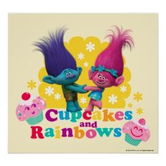 Trolls   Poppy & Branch - Cupcakes and Rainbows 2 Poster