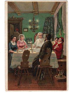 JUDAICA-JEWISH-ART-POSTCARD-DER-OSTERABEND-PASSOVER-ILLUSTRATED-M.-OPPENHEIM.jpg (1175×1600)http://baumwollarchives.com/shana-tova-jewish-new-year-cards-and-other-jewish-holiday-cards-2/ #seder #pesach